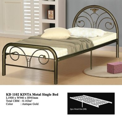KD 1102 Metal Single Bed