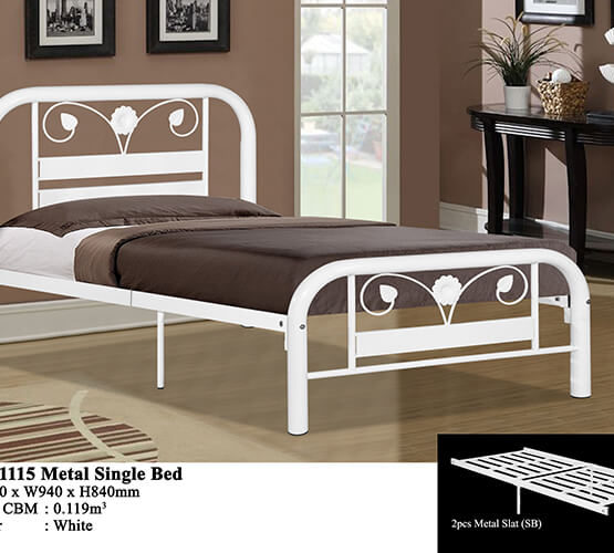 KD 1115 Metal Single Bed