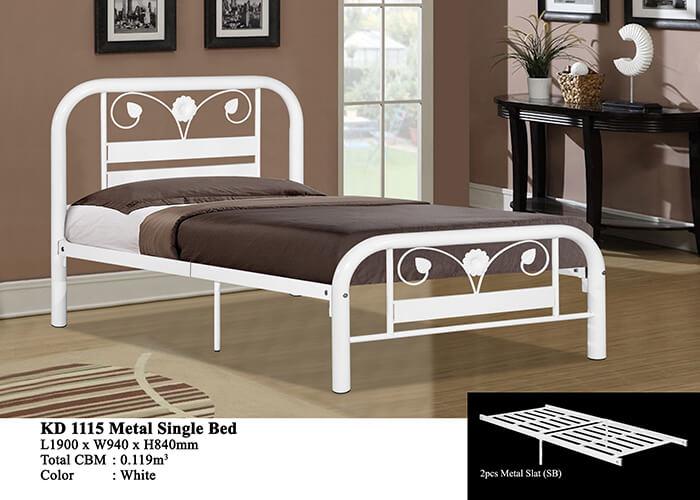KD 1115 Metal Single Bed