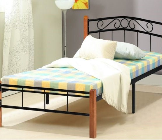 KD 15 Wooden Steel Single Bed