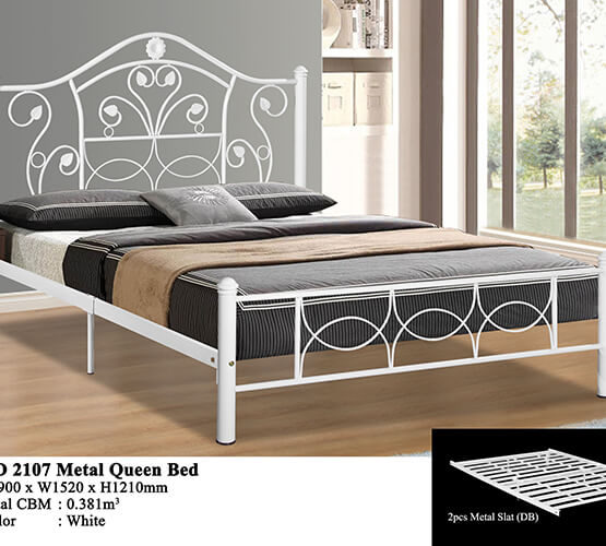 KD 2107 Metal Queen Bed