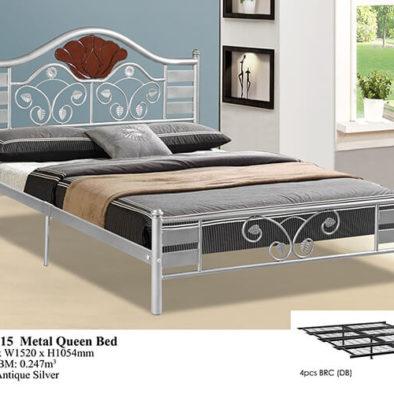 KD 2115 Metal Queen Bed