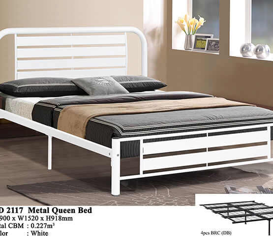 KD 2117 Metal Queen Bed