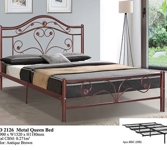 KD 2126 Metal Queen Bed
