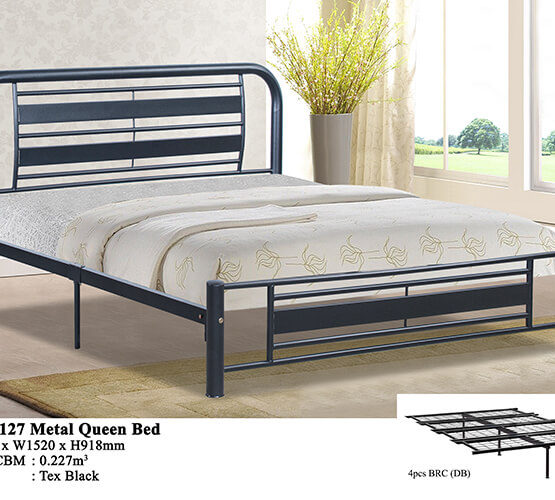 KD 2127 Metal Queen Bed