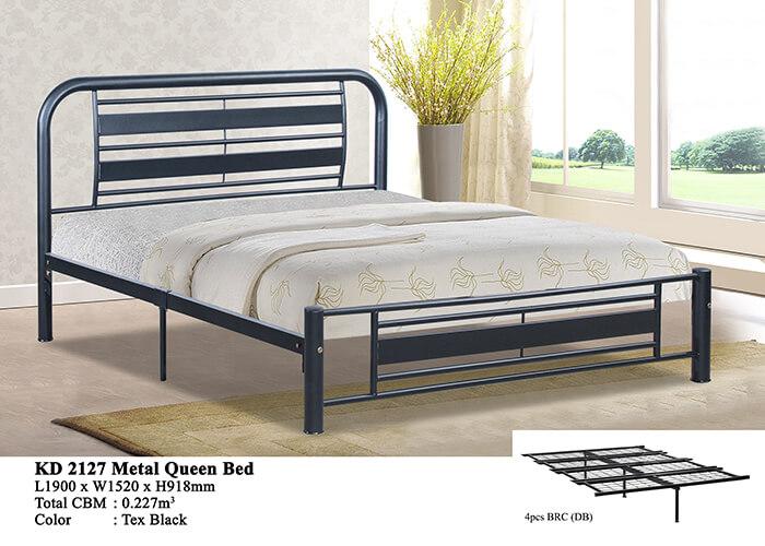 KD 2127 Metal Queen Bed