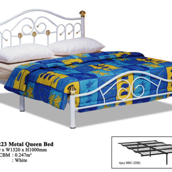 KD 223 Metal Queen Bed