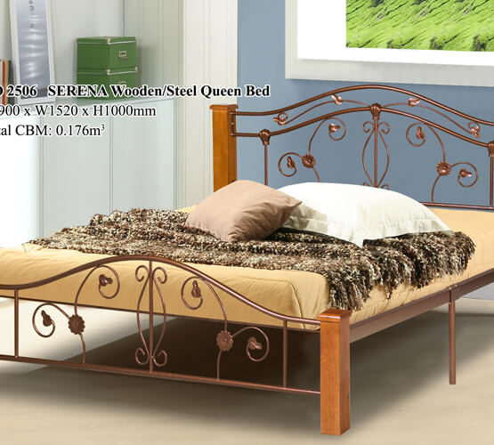 KD 2506 SERENA Wooden/Steel Queen Bed