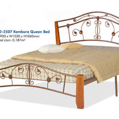 KD 2507 KEMBARA Wooden/Steel Queen Bed