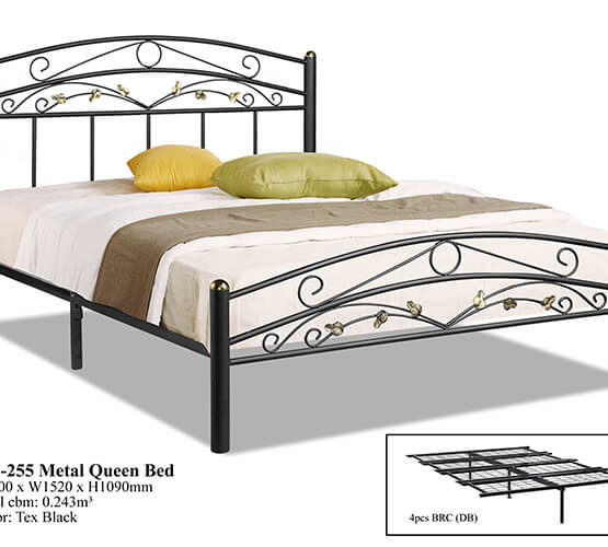 KD 255 Metal Queen Bed