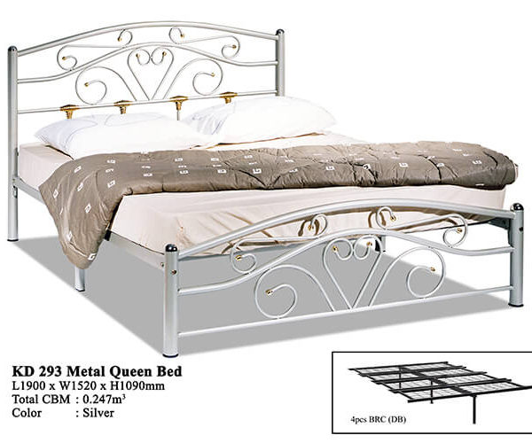 KD 293 Metal Queen Bed