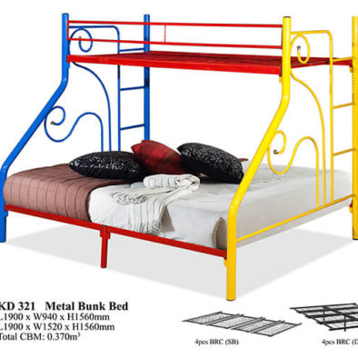 KD 321 Metal Bunk Bed