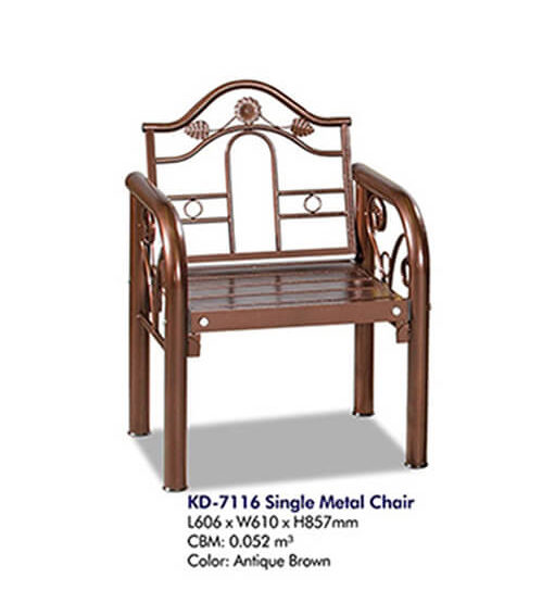 KD 7116 Single Metal Chair
