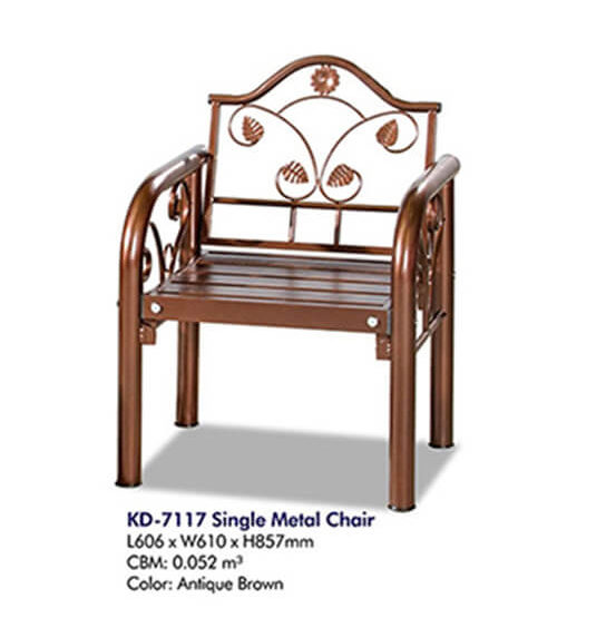 KD 7117 Single Metal Chair