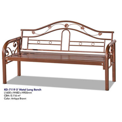 KD 7119 Metal Long Bench