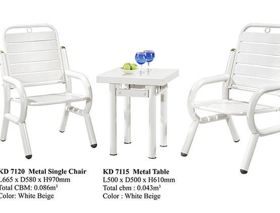 KD 7120 Metal Chair Set