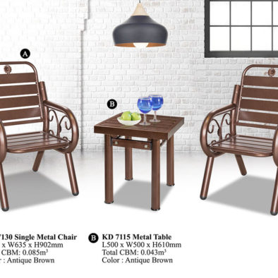 KD 7130 Metal Chair Set