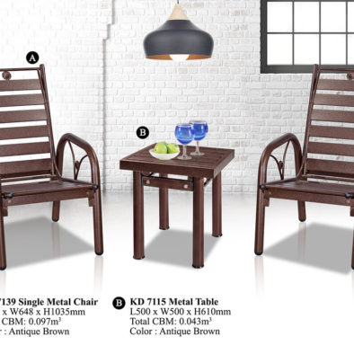KD 7139 Metal Chair Set