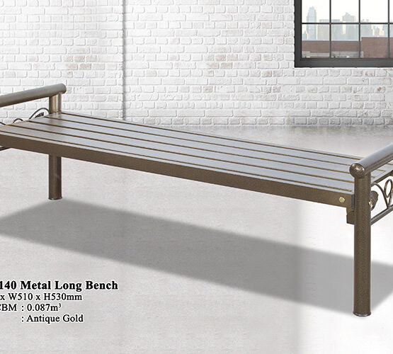 KD 7140 Metal Long Bench