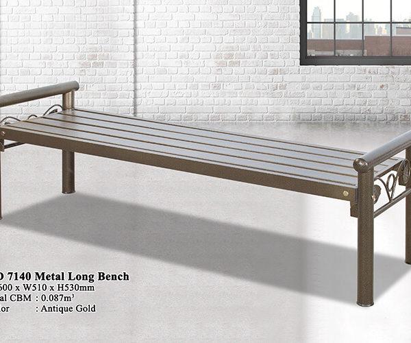 KD 7140 Metal Long Bench