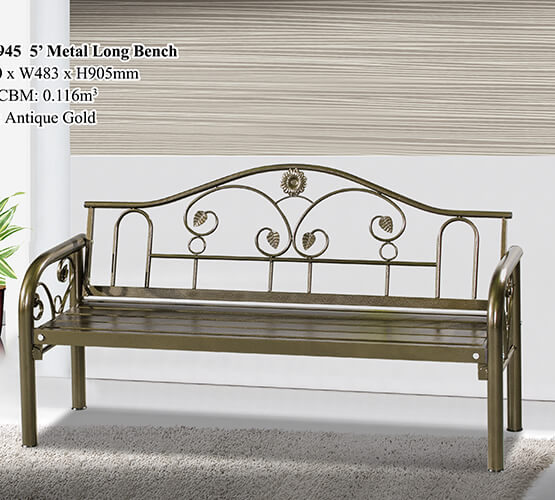 KD 7945 Metal Long Bench