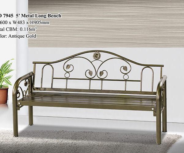 KD 7945 Metal Long Bench