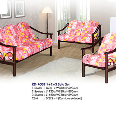 KD ROSE 1+2+3 Sofa Set