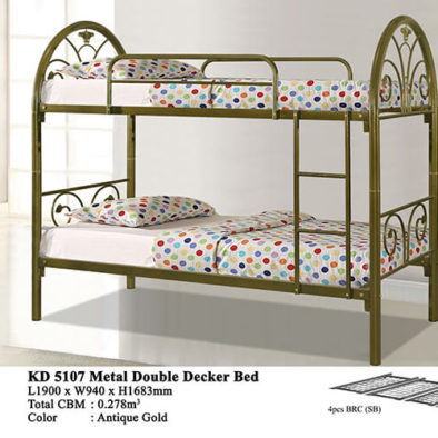 KD 5107 Metal Double Decker Bed