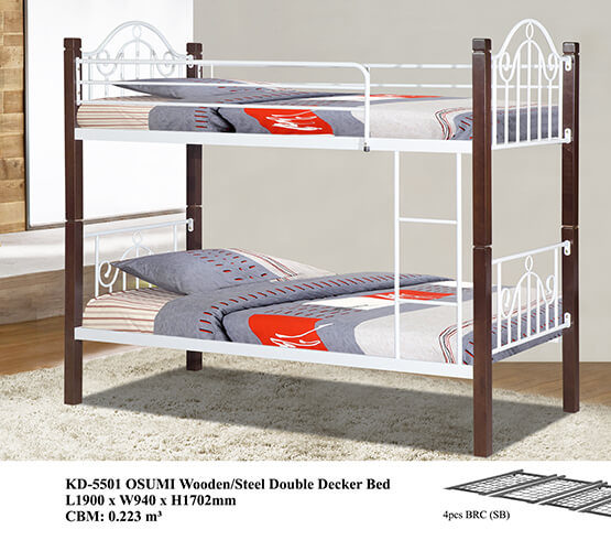KD 5501 OSUMI Wooden/Steel Double Decker Bed