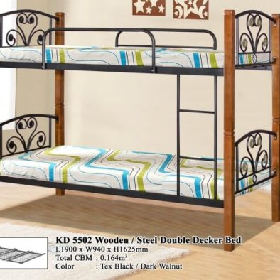 KD 5502 Wooden/Steel Double Decker Bed