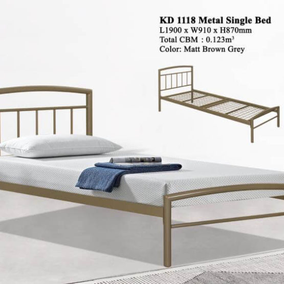 KD 1118 Metal Single Bed