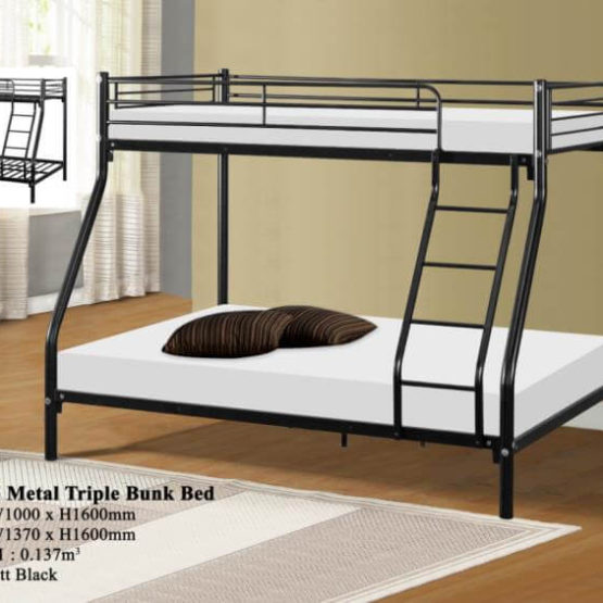 KD 3105 Metal Triple Bunk Bed