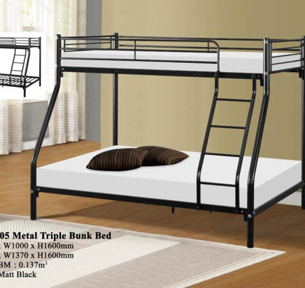 KD 3105 Metal Triple Bunk Bed